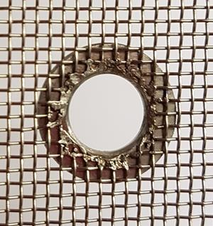 8mm single sided eyelet, mesh side.