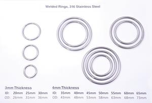 Welded Rings, 316 Stainless Steel