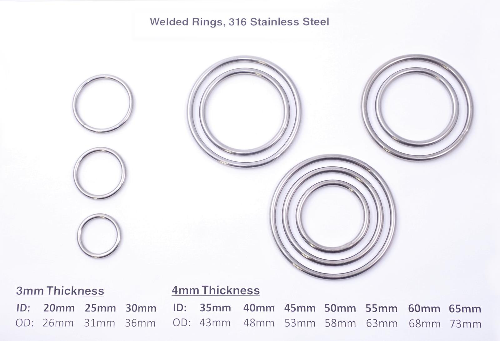 stainless products welded rings steel misc